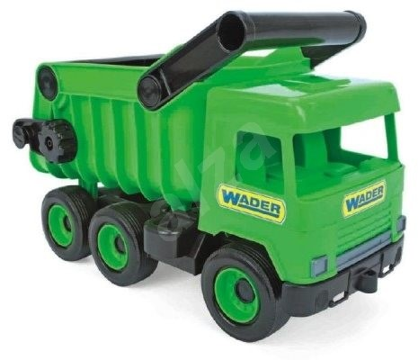 Wader Middle Truck dump truck green - Toy Vehicle