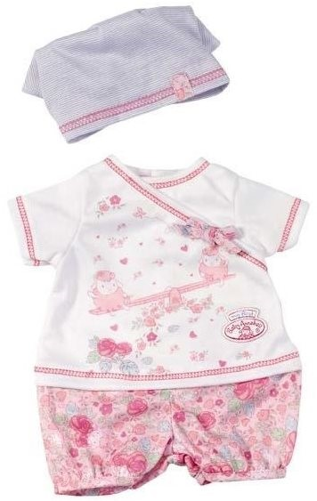 c395779893725 My First Baby Annabell Clothing for Home, White and Pink - Doll ...