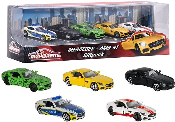Majorette Mercedes AMG GT 5pcs - Toy Car Set