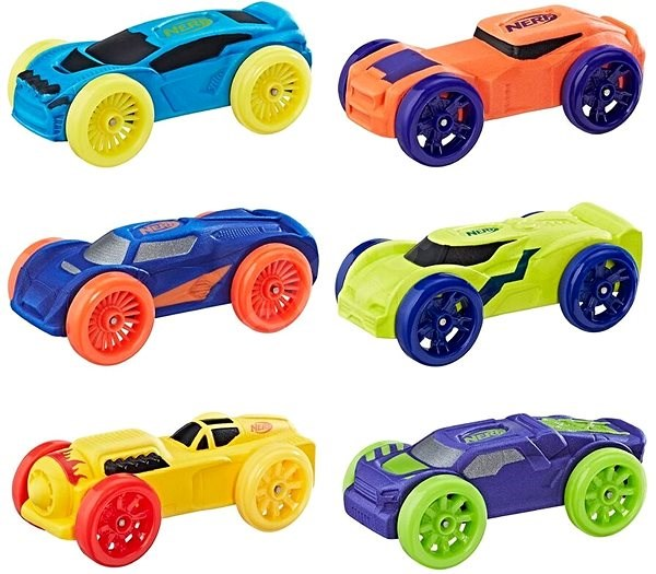 Nerf Nitro replacement nitro 6 pieces mixed colours - Game Set Extension