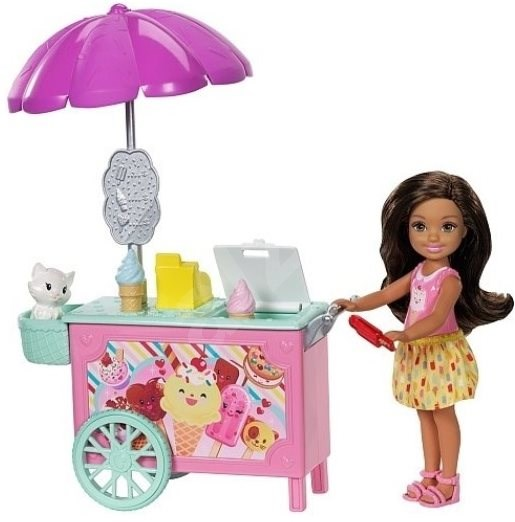 Barbie Club Chelsea Pet Ice Cream Cart - Doll