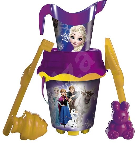 Frozen Sand bucket with Watering Can - Sand Tool Kit
