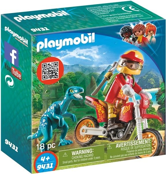 Playmobil 9431 Motorbike with Raptor - Building Kit