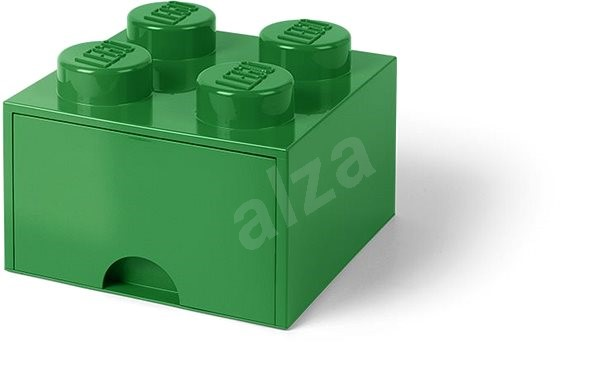 LEGO Storage Box 4 with drawer - dark green - Storage Box