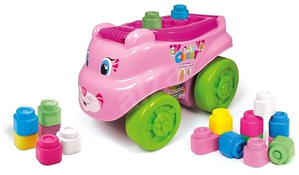 Clementoni Clemmy Baby - Cat Wagon with Blocks - Toy Vehicle