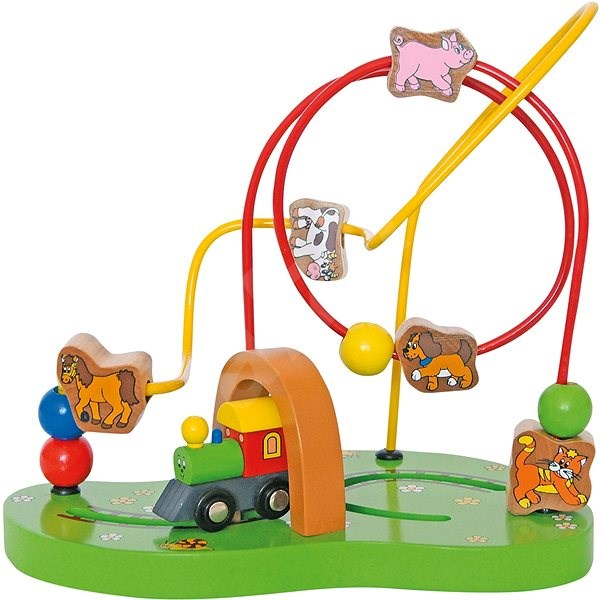 Woody Motor Labyrinth Little train - Educational toy