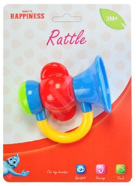Baby Rattle Trumpet Red - Baby Rattle