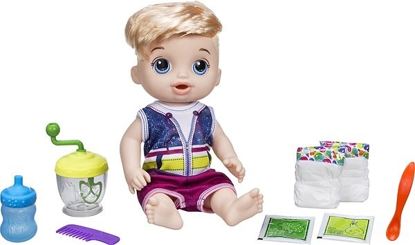 Baby Alive Blonde Baby Boy with Mixer - Doll