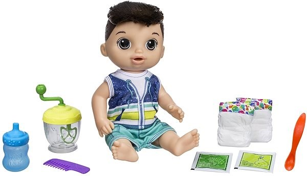Baby Alive A dark-haired Baby Boy Doll with a Mixer - Doll
