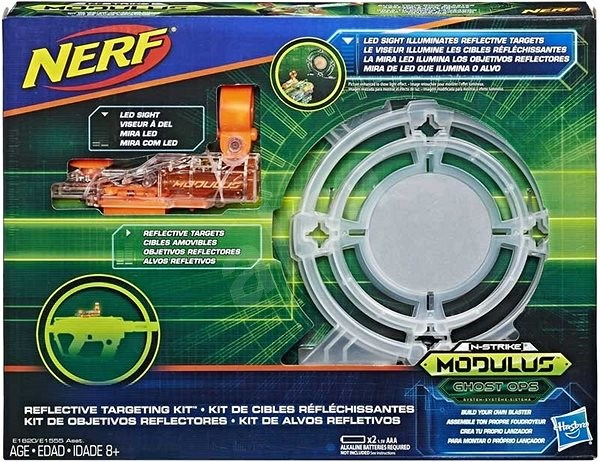 Nerf Modulus Set of Reflective Targets with Laser Sight - Accessories for Nerf