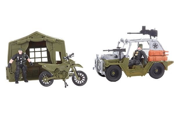 Jeep and Motorbike - playing kit