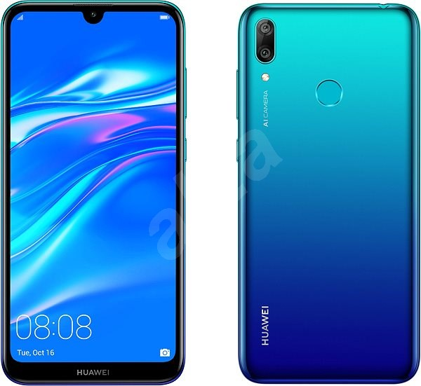 HUAWEI Y7 (2019) blue - Mobile Phone