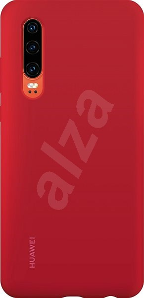 Huawei Original Silicone Car Case Red for P30 - Mobile Case