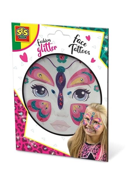 SES Glitter face tattoo - butterfly - Creative Kit