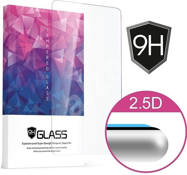 Icheckey 2.5D Silk Tempered Glass Protector Black for Huawei P20 Pro - Glass protector