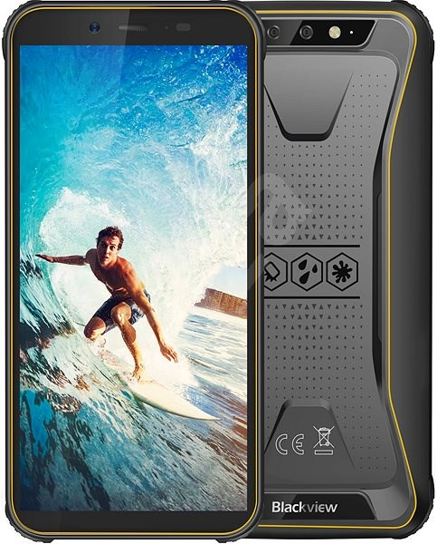 Blackview GBV5500 Yellow - Mobile Phone