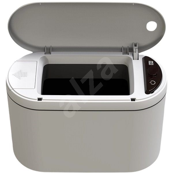 iQtech Whaota 2l, Contactless Cosmetic Basket, White - Contactless Waste Bin