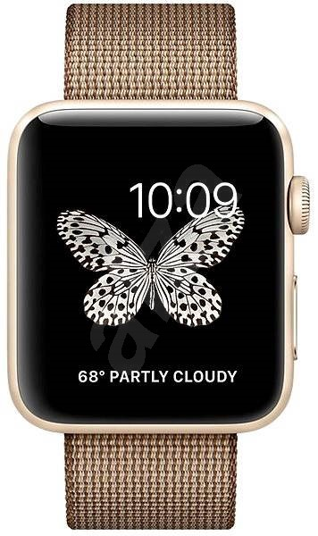 Apple Watch Series 2 42mm Gold Aluminium with Toasted Coffee/Caramel Woven Nylon - Smartwatch