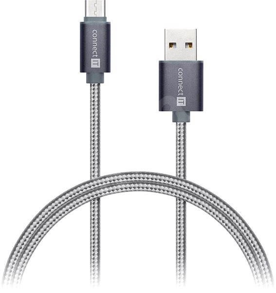 CONNECT IT Wirez Premium Metallic USB-C 1m silver grey - Data cable