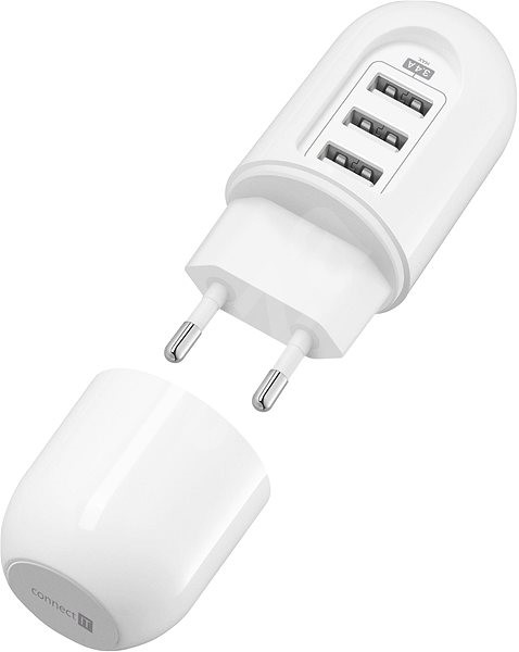 CONNECT IT Power Nomad 3.4A Travel Charger white - Charger