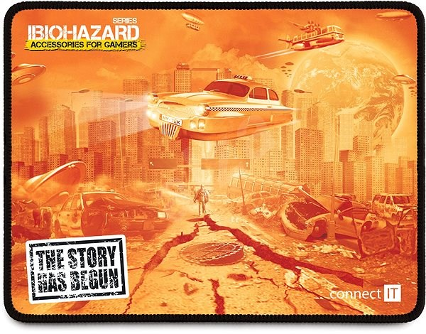 CONNECT IT BIOHAZARD, small - Gaming Mouse Pad