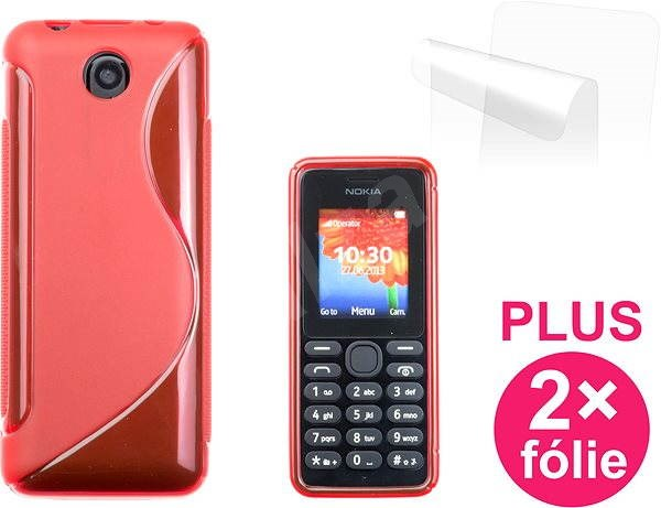 CONNECT IT S-Cover Nokia 108 red  - Mobile Phone Case