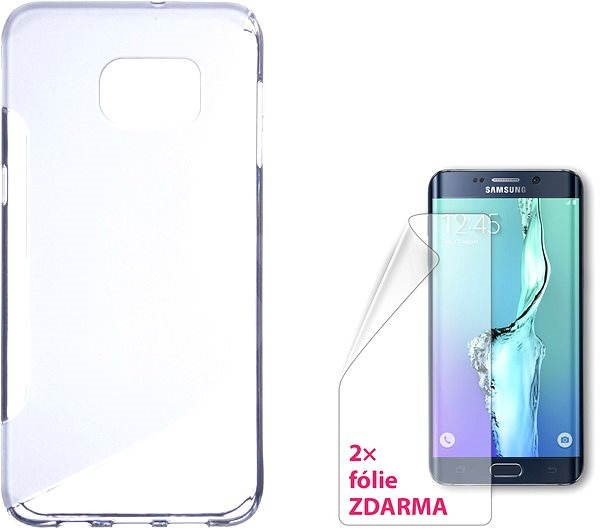 CONNECT IT S-Cover Samsung Galaxy S6 edge + clear - Mobile Phone Case