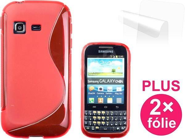 CONNECT IT S-Cover Samsung Galaxy Chat (B5330) red - Mobile Phone Case