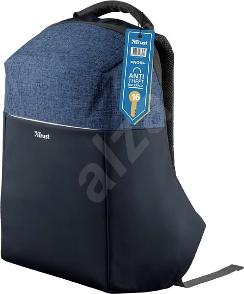 "Trust Nox Anti-theft Backpack for 16"" Laptops - Blue - Laptop Backpack"