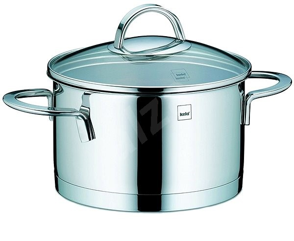 Kela Pot with CAILIN glass cover stainless steel 1.7l - Pot