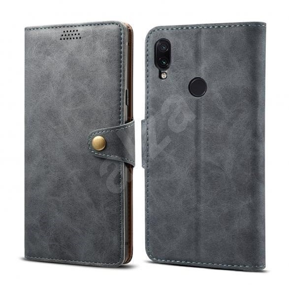Lenuo Leather for Xiaomi Redmi Note 7, Grey - Mobile Phone Case