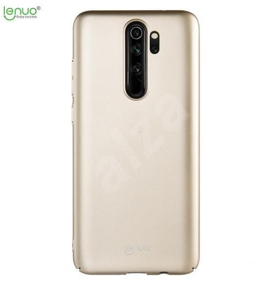 Lenuo Leshield for Xiaomi Redmi Note 8 Pro, gold - Mobile Case