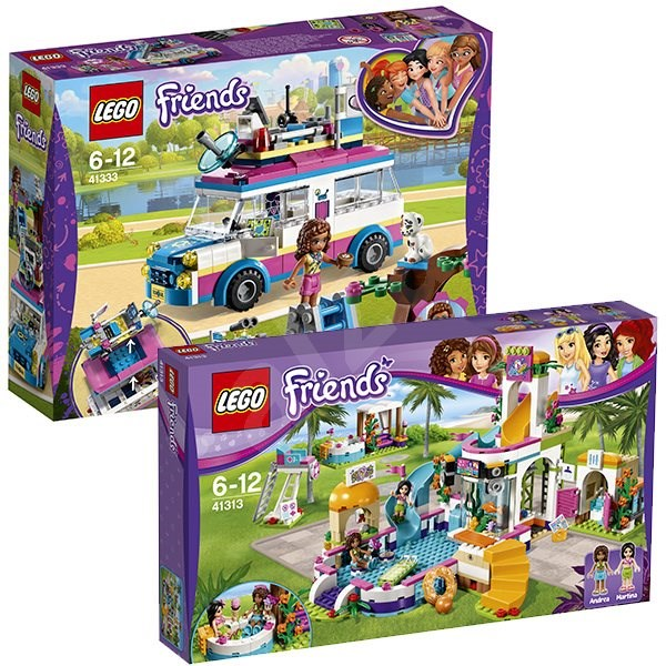 LEGO Friends 41313 Summer pool in the town of Heartlake + LEGO Friends 41333 Olivia and her special car - Game set