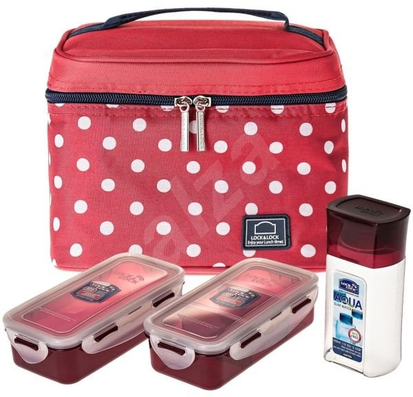 Lock&Lock Lunch Box - red - set of 3pcs - Food Container Set