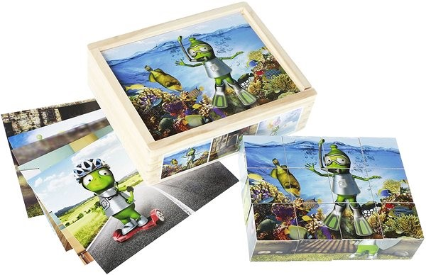 Wooden Alza cubes - Picture Blocks