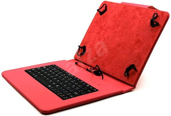 C-TECH PROTECT NUTKC-02 red  - Tablet Case with Keyboard