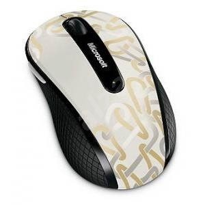 Microsoft Wireless Mobile Mouse 4000 Dove White Ravel - Mouse
