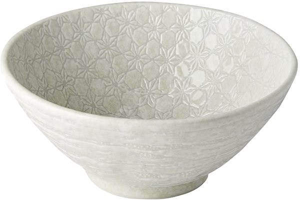 Made In Japan Large Udon Bowl White Star 20cm 950ml - Bowl