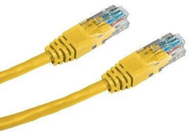 Datacom CAT5E UTP yellow 10m - Network Cable