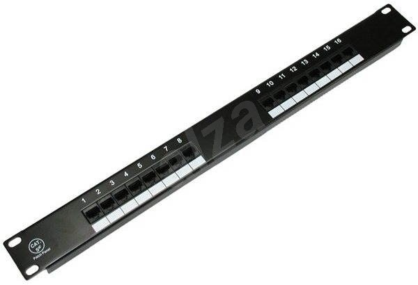Datacom, 16x RJ45, direct, CAT5E, UTP, black, 1U - Patch Panel