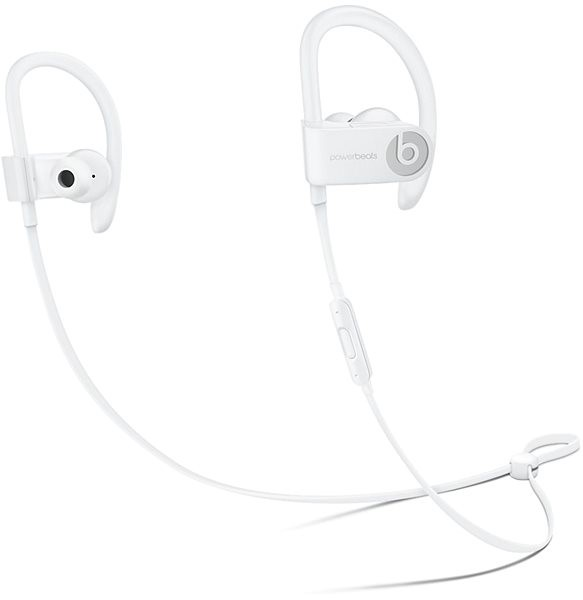 Beats by Dre Powerbeats 3 Wireless, White - Headphones with Mic