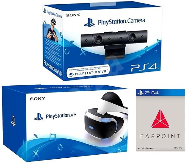 PlayStation VR for PS4 + PS4 Camera + Farpoint - VR Headset | Alza