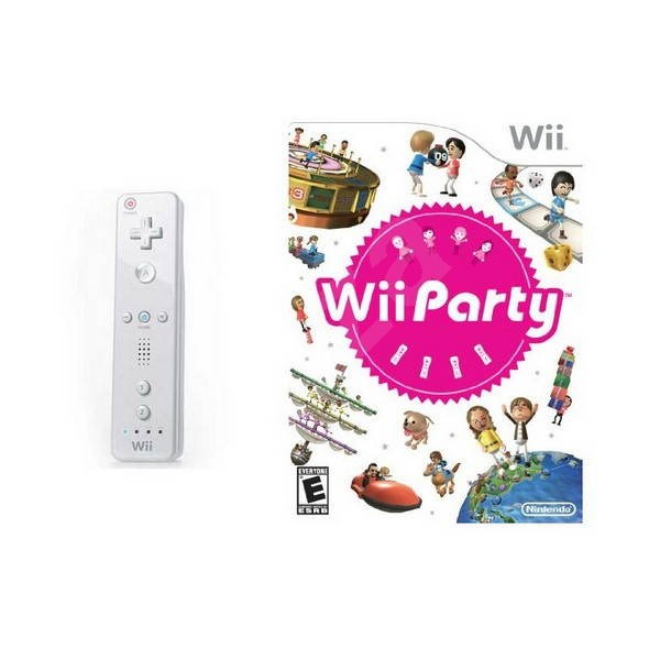 Nintendo Wii Remote Controller White + Wii Play Party - Wireless Controller