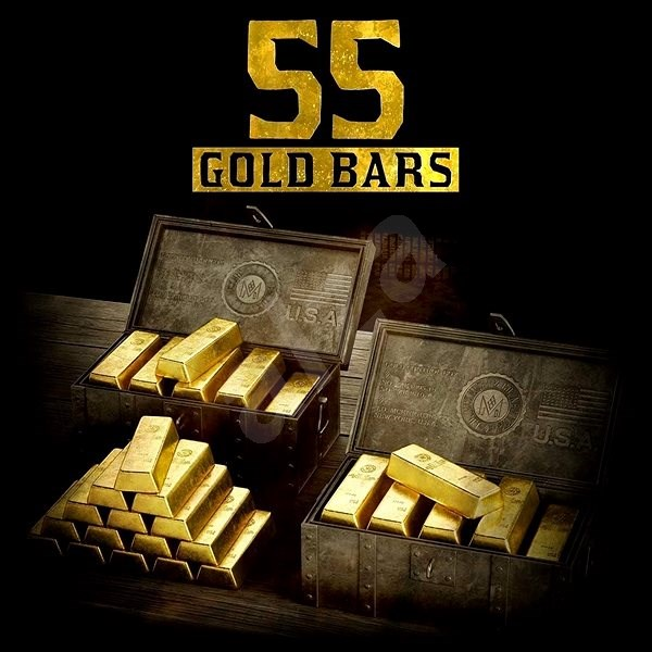 Red Dead Redemption 2: 55 Gold Bars - Xbox One Digital - Gaming Accessory