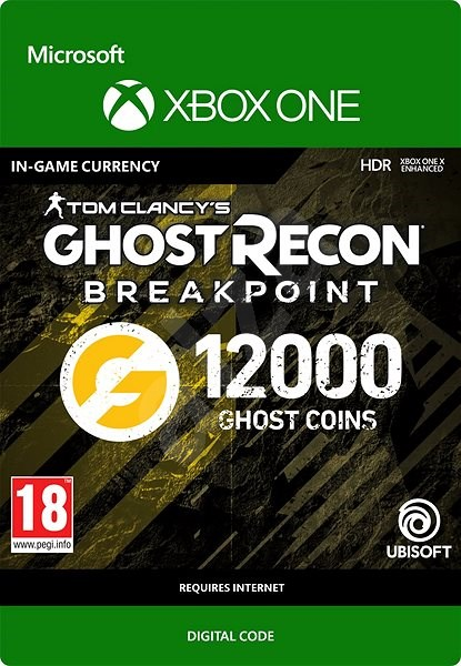 Ghost Recon Breakpoint: 9600 (+2400 bonus) Ghost Coins - Xbox One Digital - Gaming Accessory