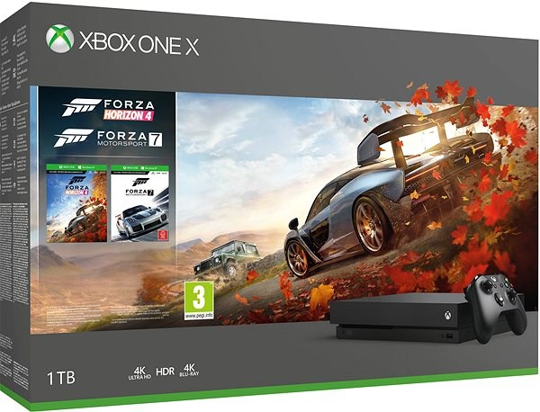 Xbox One X + Forza Horizon 4 + Forza Motorsport 7 - Game Console