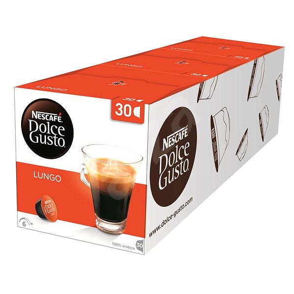 Nescafé Dolce Gusto CaffeLungo Pack of 3 (Total 48 Capsules, 24 Servings) - Coffee Capsules