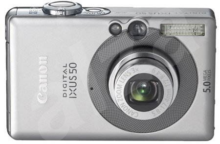 "Canon Digital IXUS 50, CCD 5 Mpx, 3x zoom, 2"" LCD, Li-Ion, SD/ MMC - Digital Camera"