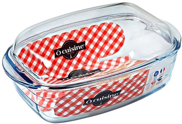 Ocuisine Glass Baking Dish with Lid 33 x 19cm - Baking Mould