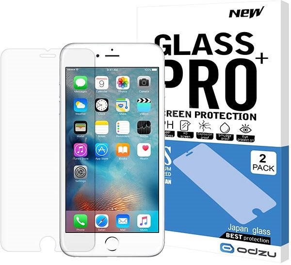 Odzu Glass Screen Protector for iPhone 6 Plus and iPhone 6S Plus - Glass protector